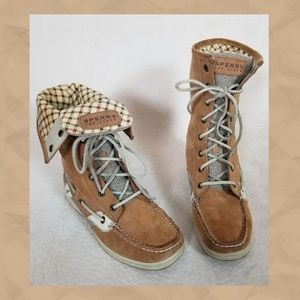 Sperry lace-up booties